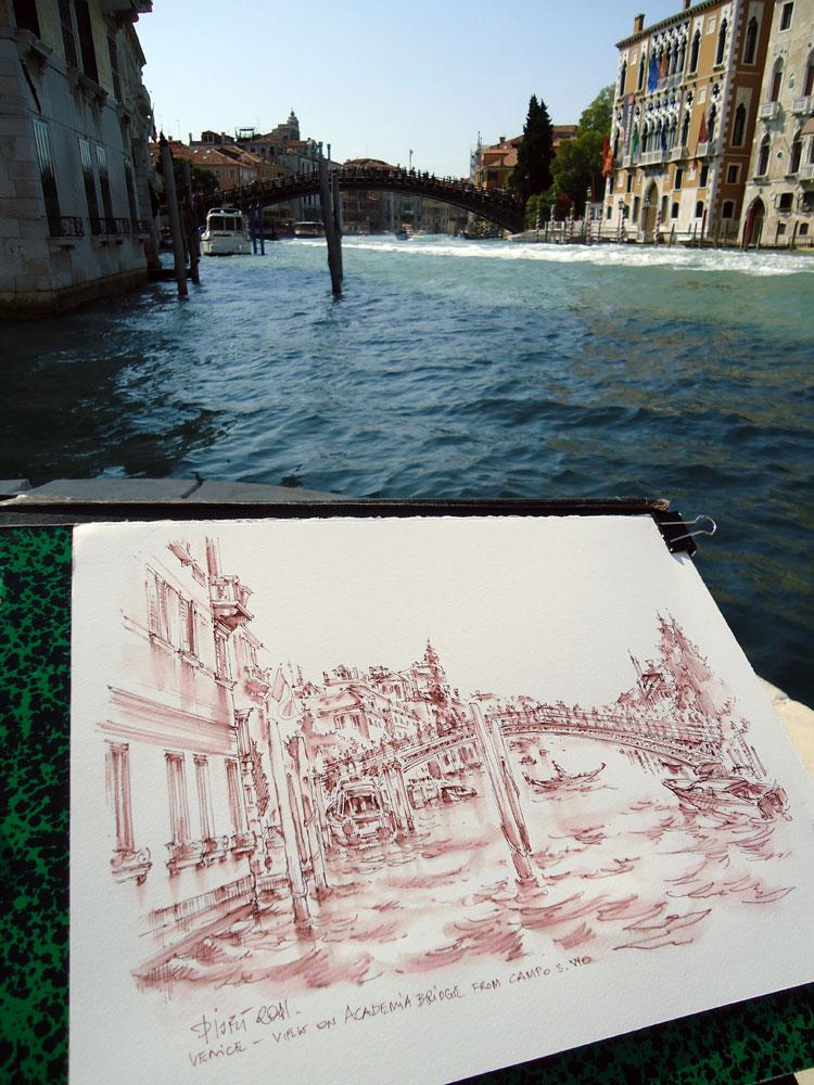 Drawing in situ, Venice