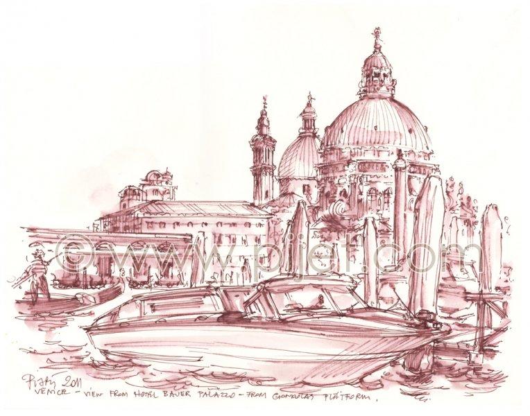 Venice, View on Santa Maria della Salute