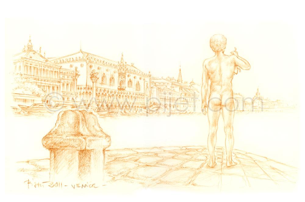 Venice, view from the Sestiere Dorsoduro